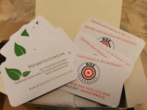 Visitenkarten für die Bürgerinitiative