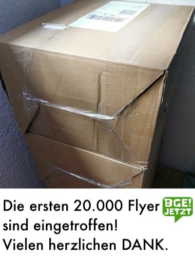 20.000 A6 Flyer für das bedingungslose Grundeinkommen
